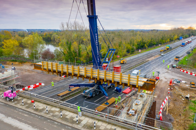 Osprey installing bridge section at Monkey Lane